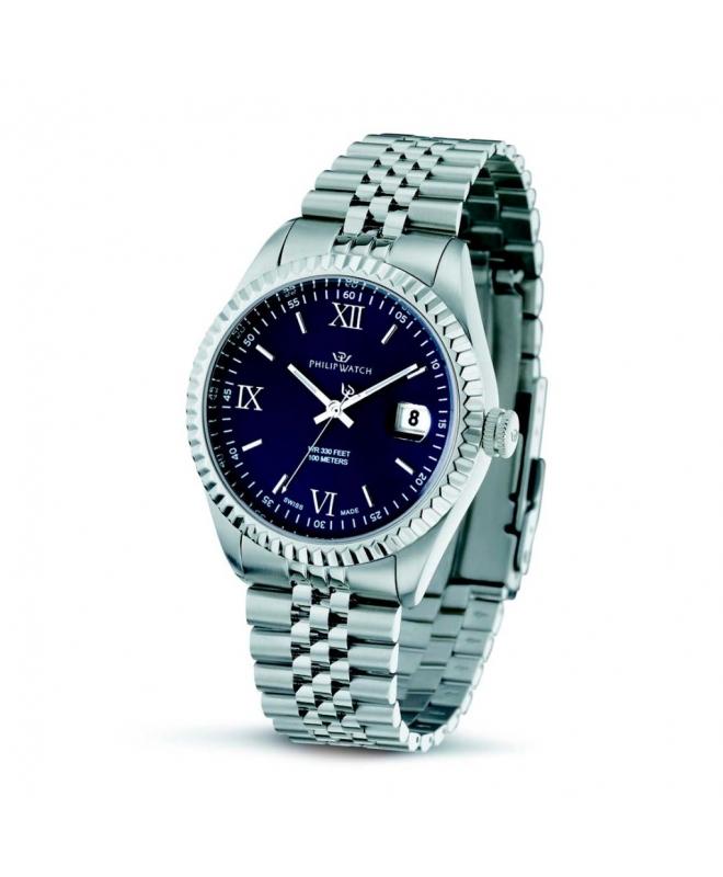 Philip Watch Caribe gent 3h blue dial/bracelet uomo R8253597014 - galleria 1