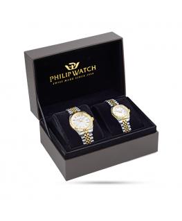 Philip Watch Caribe gent 3h br yg+ss pair