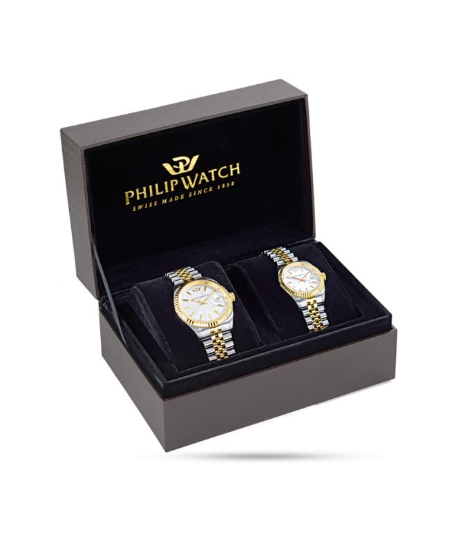 Special box con due orologi Philip Watch Caribe uomo donna uomo - galleria 1