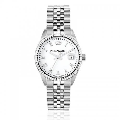 Philip Watch Caribe 35mm 3h white dial brac donna R8253597515