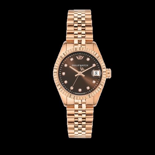 Philip Watch Caribe 31mm 3h brw dial w/diam br rg donna