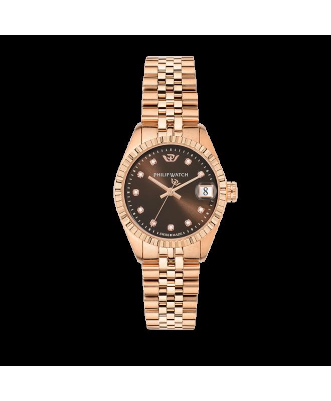 Philip Watch Caribe 31mm 3h brw dial w/diam br rg donna - galleria 1