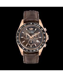 Philip Watch Caribe 42mm chr brown dial black st