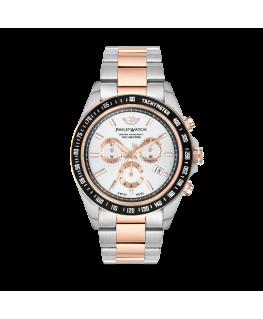 Philip Watch Caribe 42mm chr w/silver dial br rg+ss