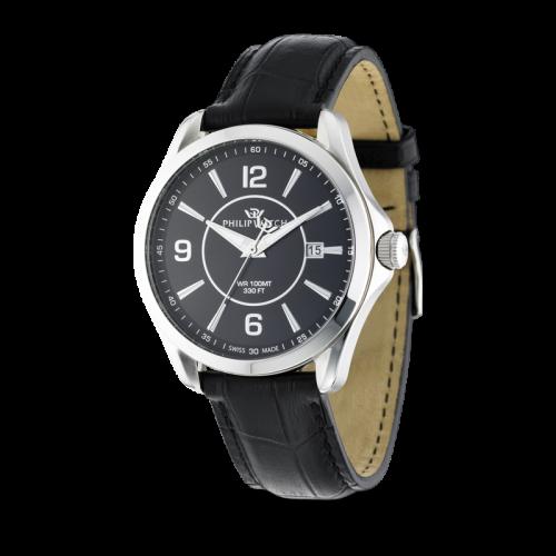 Philip Watch Blaze 3h black dial black strap uomo R8251165001