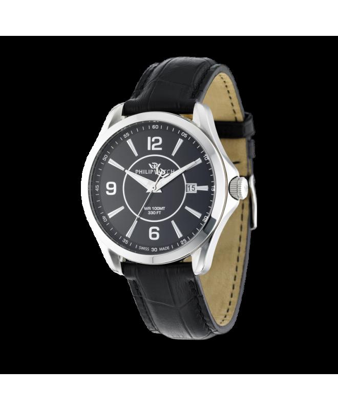 Philip Watch Blaze 3h black dial black strap uomo R8251165001 - galleria 1
