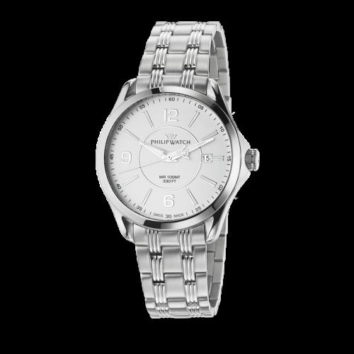 Philip Watch Blaze 3h white matt dial/bracelet uomo R8253165002
