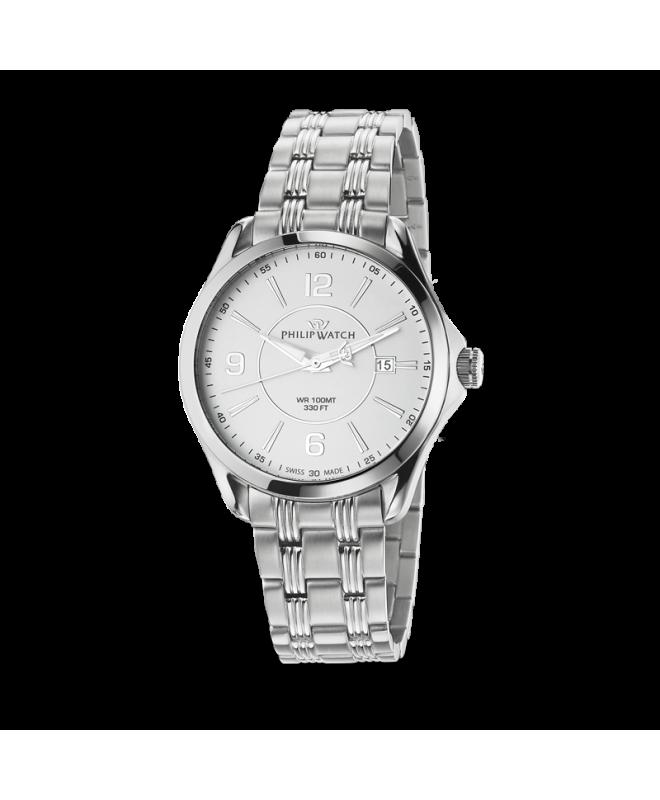 Philip Watch Blaze 3h white matt dial/bracelet uomo R8253165002 - galleria 1