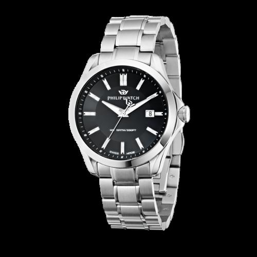 Philip Watch Blaze 3h black dial bracelet uomo R8253165004