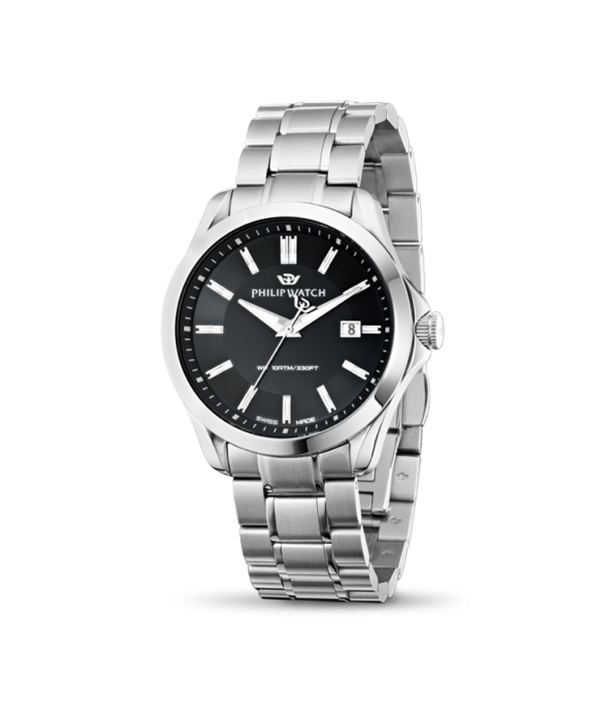Philip Watch Blaze 3h black dial bracelet uomo R8253165004 - galleria 1