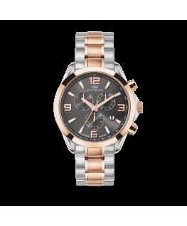 Philip Watch Blaze 41mm chr 6h grey dial bracel rg/ss