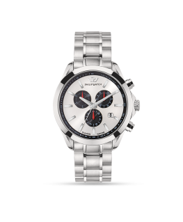 Philip Watch Blaze 41mm chr 6h w/silver dial br ss