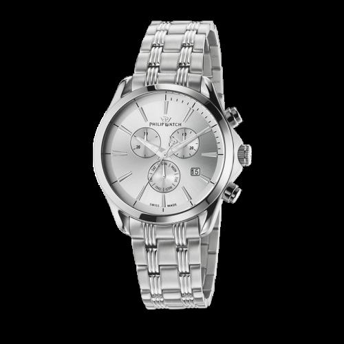 Philip Watch Blaze chr white silver dial bracelet uomo