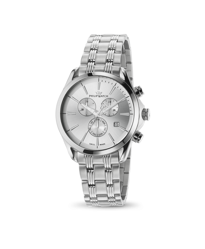 Philip Watch Blaze chr white silver dial bracelet uomo - galleria 1