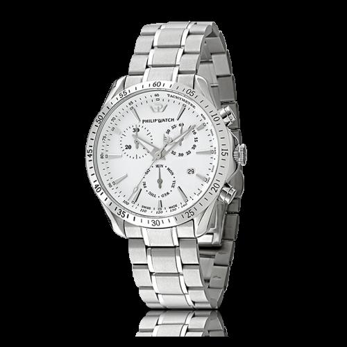 Philip Watch Blaze chr white dial/ bracc. uomo R8273995215