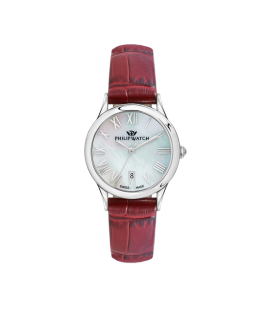 Philip Watch Marilyn 31mm 3h mop natural dial red st