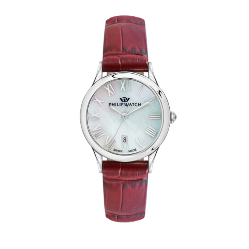 Philip Watch Marilyn 31mm 3h mop natural dial red st donna