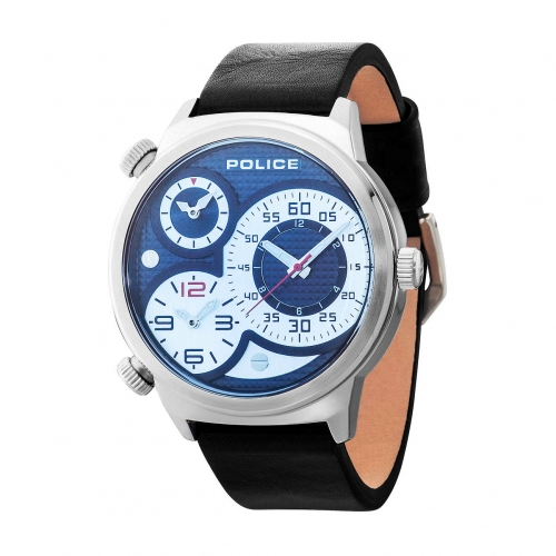 Police Elapid trial t black dial d. blue strap