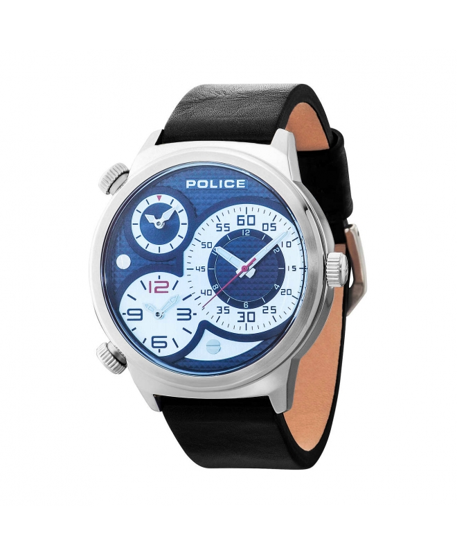 Police Elapid trial t black dial d. blue strap - galleria 1