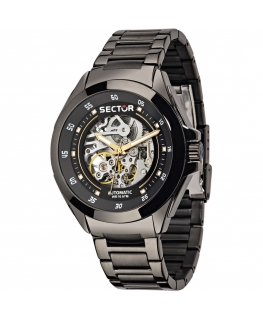 Sector 720 44mm 3h auto black dial br ss