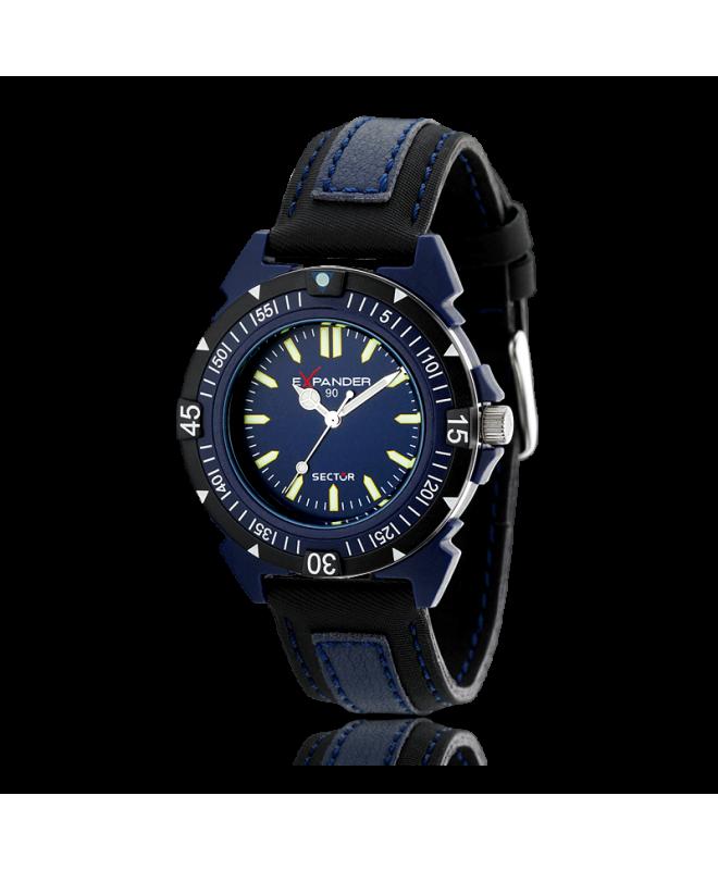 Orologio Sector Expander 90 3h blue uomo - galleria 1