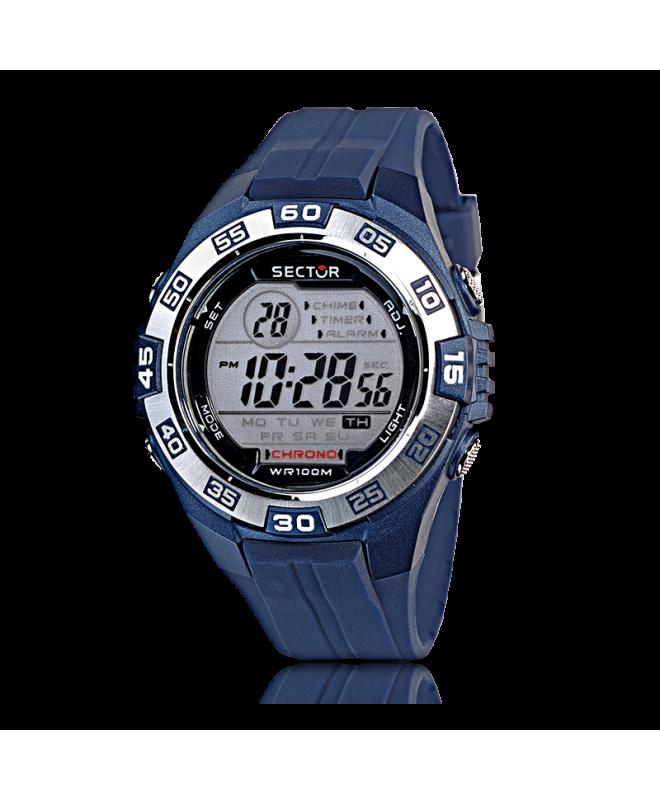 Sector Street digital silver dial/blue pu uomo R3251372315 - galleria 1