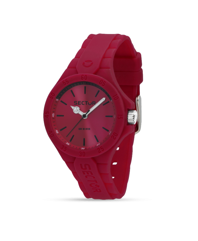 Sector Steeltouch 34mm 3h pink dial/sili st donna R3251576510 - galleria 1