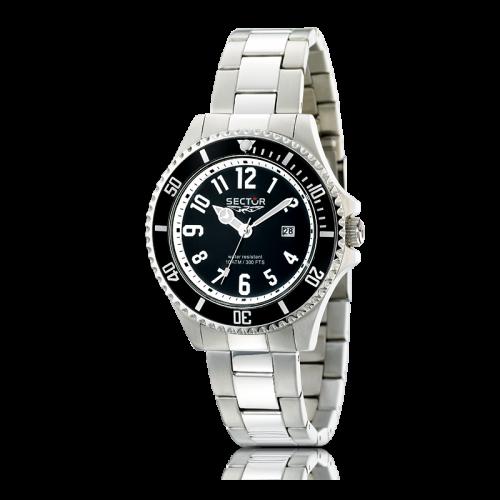 Sector 230 gent 43mm 3h black dial/bracelet uomo R3253161025