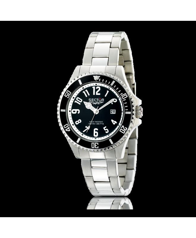 Sector 230 gent 43mm 3h black dial/bracelet uomo R3253161025 - galleria 1