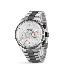 Sector 850 45mm multi white silver dial br ss