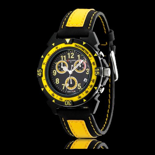 Sector Expander 90 chr black d/yellow black st uomo R3271697027