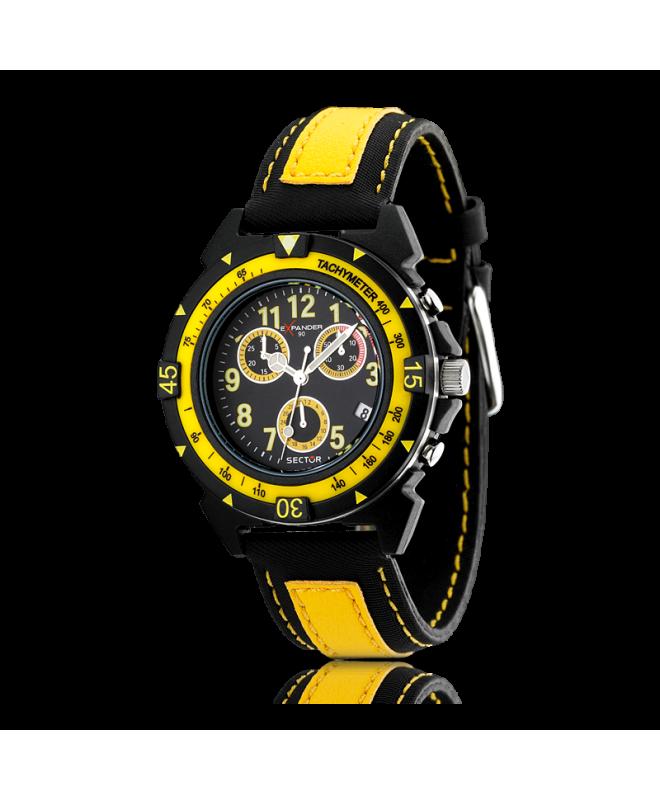 Sector Expander 90 chr black d/yellow black st uomo R3271697027 - galleria 1