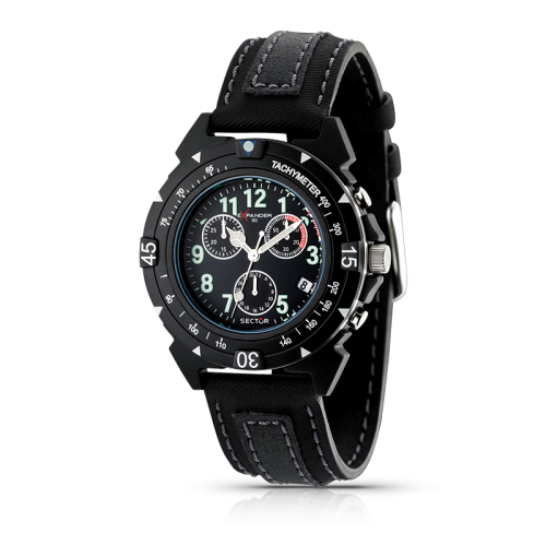 Sector Expander 90 chr black dial/ black strap uomo R3271697025