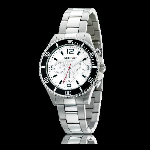 Sector 230 gent 43mm multif.white dial/bracelet uomo R3273661045