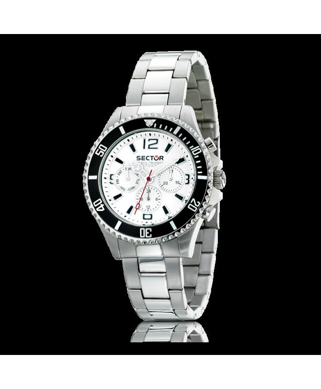 Sector 230 gent 43mm multif.white dial/bracelet - galleria 1