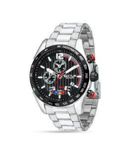 Sector 330 yachting 45mm chro black dial br ss