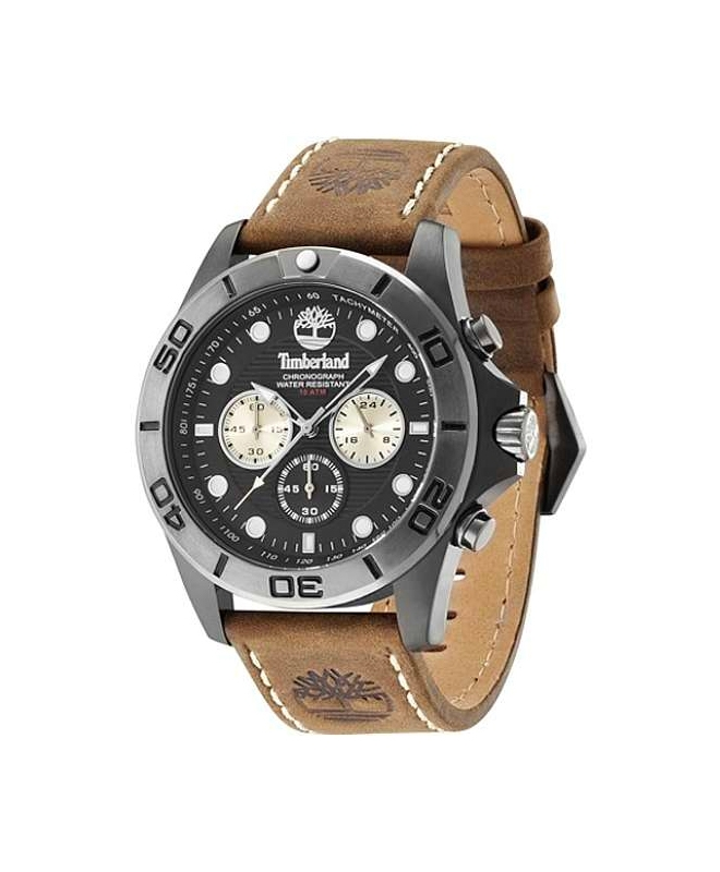 Timberland Northfield chronograph brown leather st - galleria 1