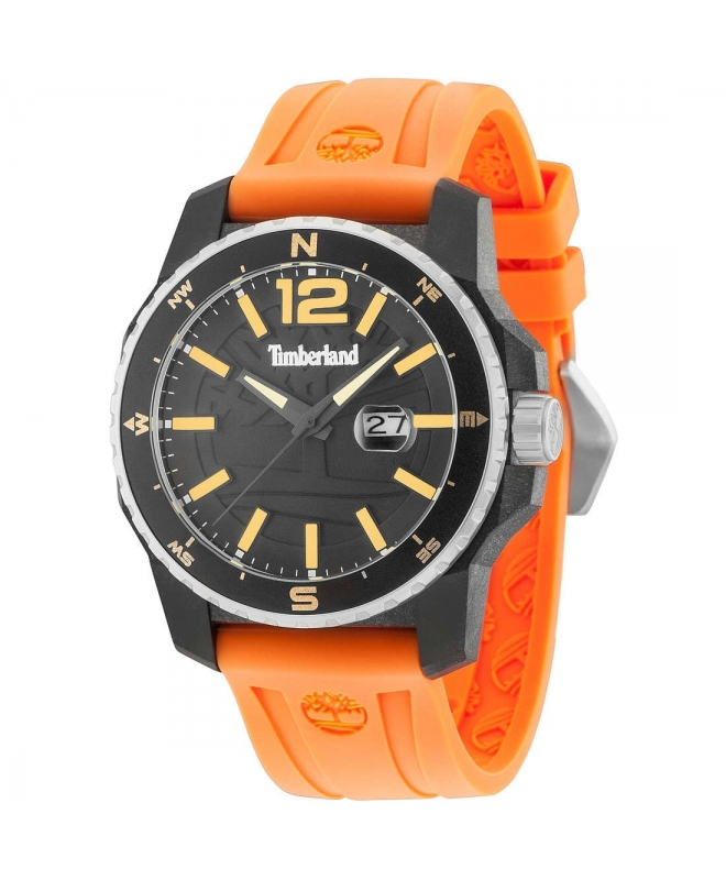 Timberland Westmore 3h black dial orange silicon st - galleria 1