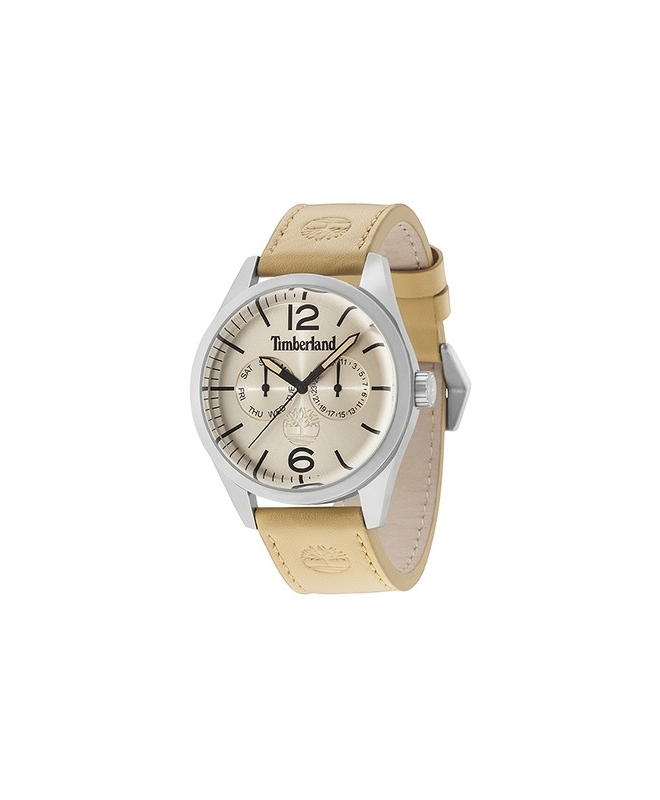 Timberland Middleton multi beige dial brown strap - galleria 1