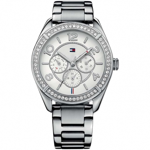 Tommy Hilfiger Gracie 40mm multi. wht dial st steel br