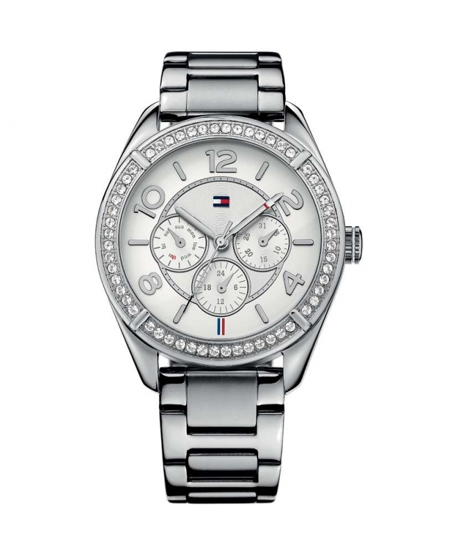 Tommy Hilfiger Gracie 40mm multi. wht dial st steel br - galleria 1