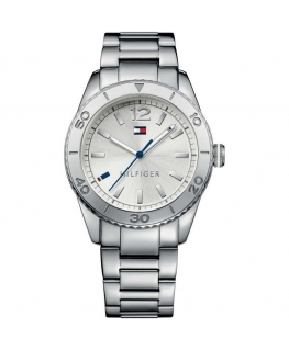 Tommy Hilfiger Ritz 38mm 3h s/wht dial st steel br