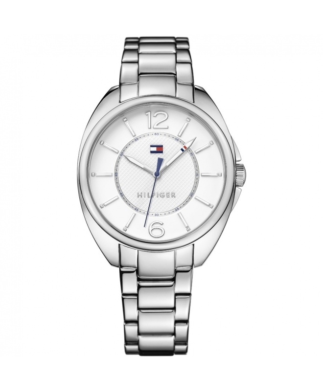 Tommy Hilfiger Charlee 38mm 3h white dial br ss - galleria 1