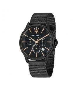 Maserati Epoca ext 42mm chr black dial mesh b blk