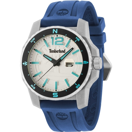 Timberland Westmore 3h beige dial blue silicon st
