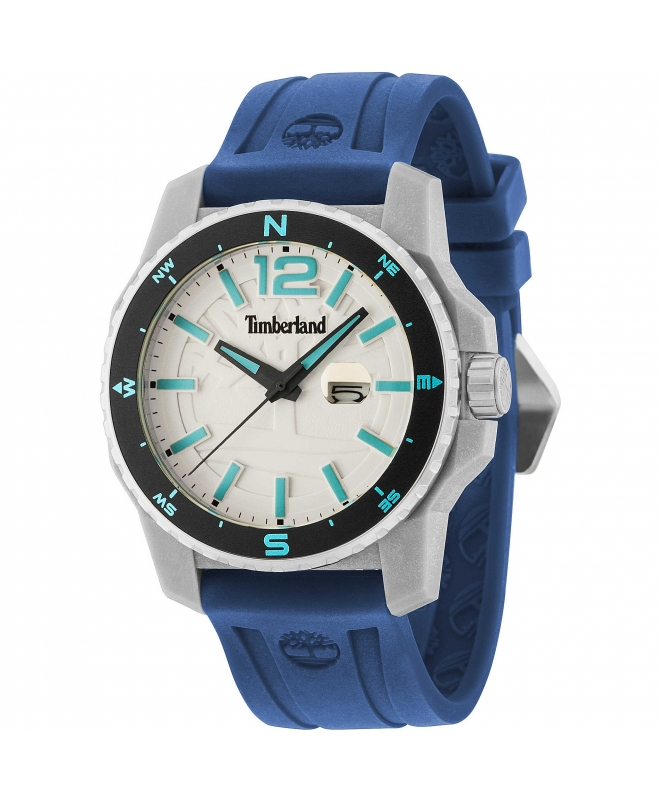Timberland Westmore 3h beige dial blue silicon st - galleria 1