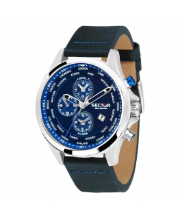 Sector 180 ext 45mm blue dial black st