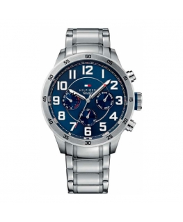 Tommy Hilfiger Trent 46mm multi. navy dial st steel br