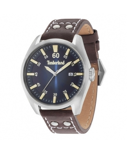 Timberland Bellingham 3h d.blue dial d.brown strap