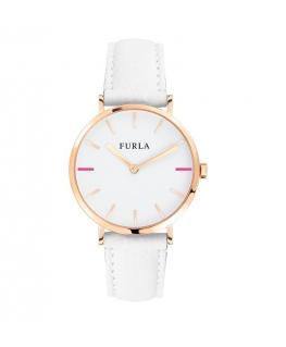 Furla Giada 33mm 2h white dial ivory strap